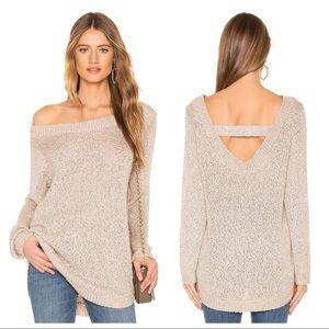 NWT BB Dakota Tis the Season Gold Sequin Sweater L